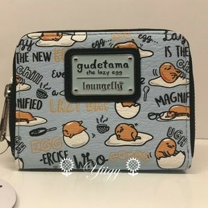 Loungefly Gudetama Lazy Egg Zip Around Wallet